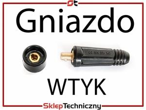 Komplet Gniazdo Wtyk na Kabel 35-50 mm Spawarki BRZESKO