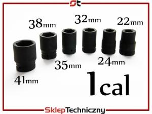 Udarowe klucze nasadowe nasadki CZOP 1 cal 22-41mm ASK003