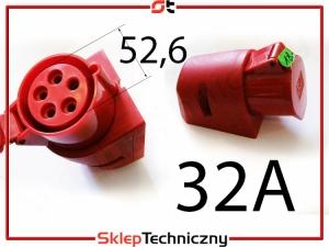 Gniazdo siła siłowe 5x 32A natynkowe PROSTER/G32A5P